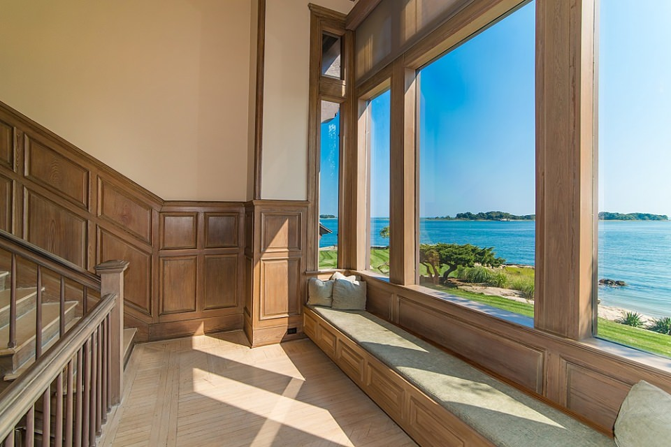 The every window in the main house gives the clear and exquisite view of surrounding azure water