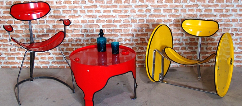 The Urbanite Home Reclaimed Oil Barrel Furniture