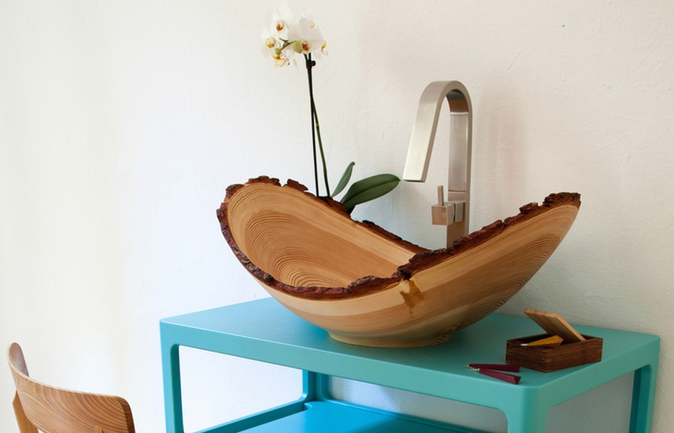Wooden Wash Basin by Slowwood