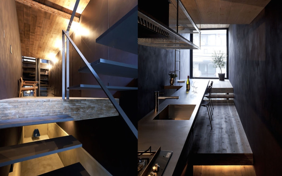 The narrow house is fully-eqquiped with all the modern amenities