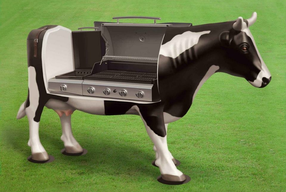 Cow-shaped BBQ Grill