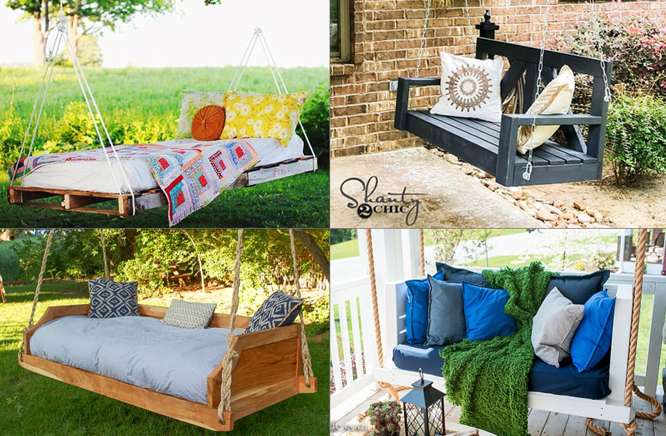DIY Swing Bed Ideas to Spruce Up Your Outdoor Space