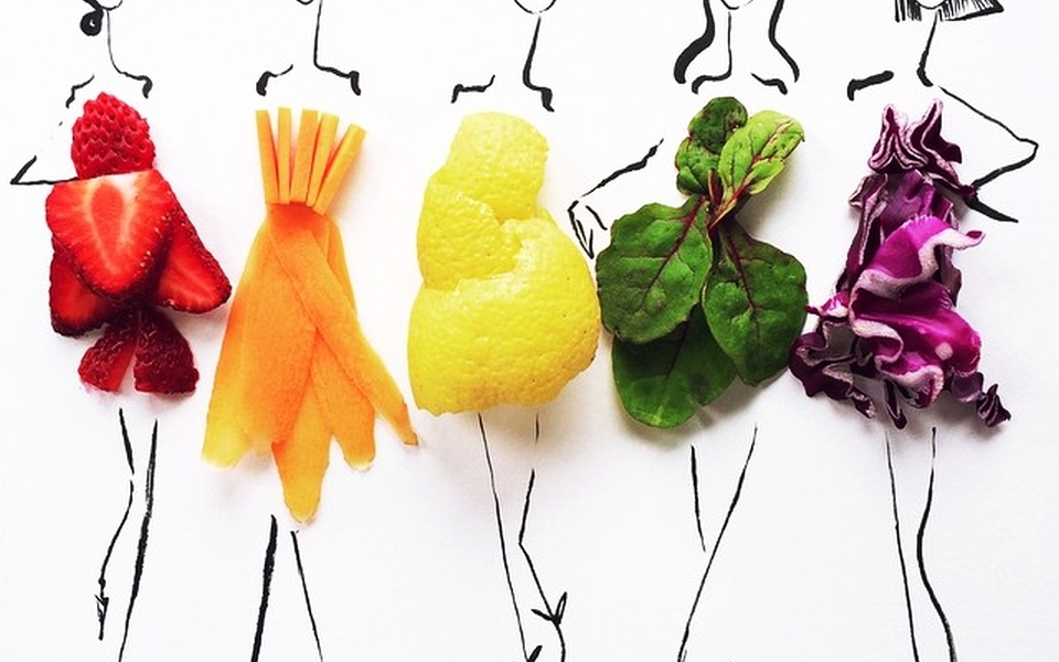 Food Fashion Sketches by Gretchen Roehrs