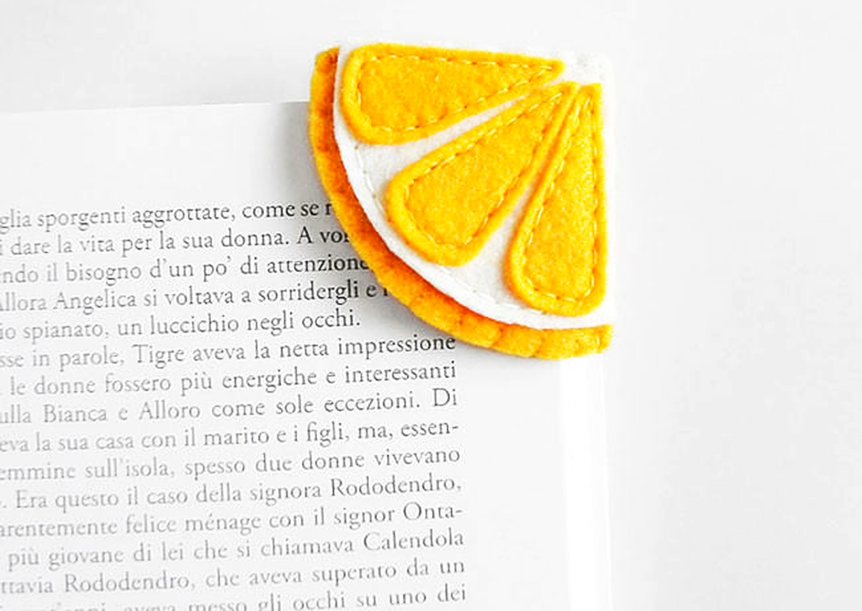 Food-inspired Handmade Felt Bookmarks