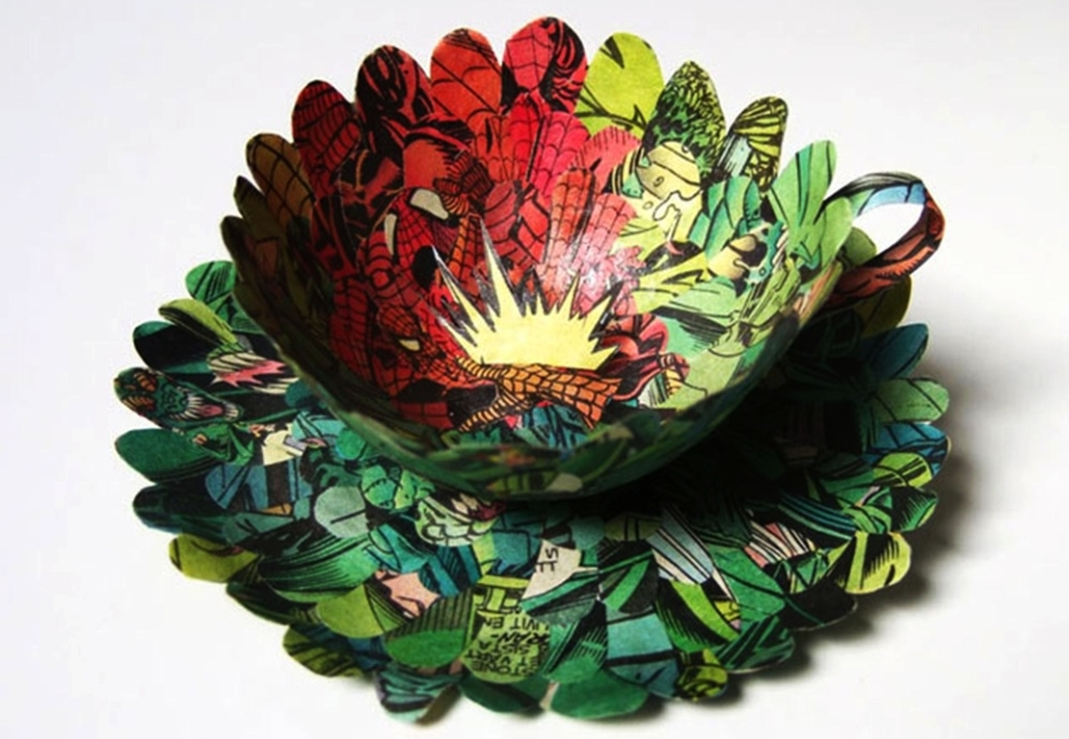 Paper Tableware by Cecilia Levy