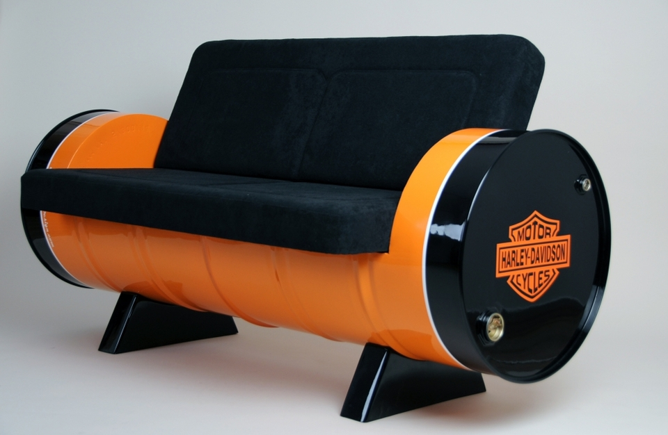 Vintage-style Oil Barrel Sofa
