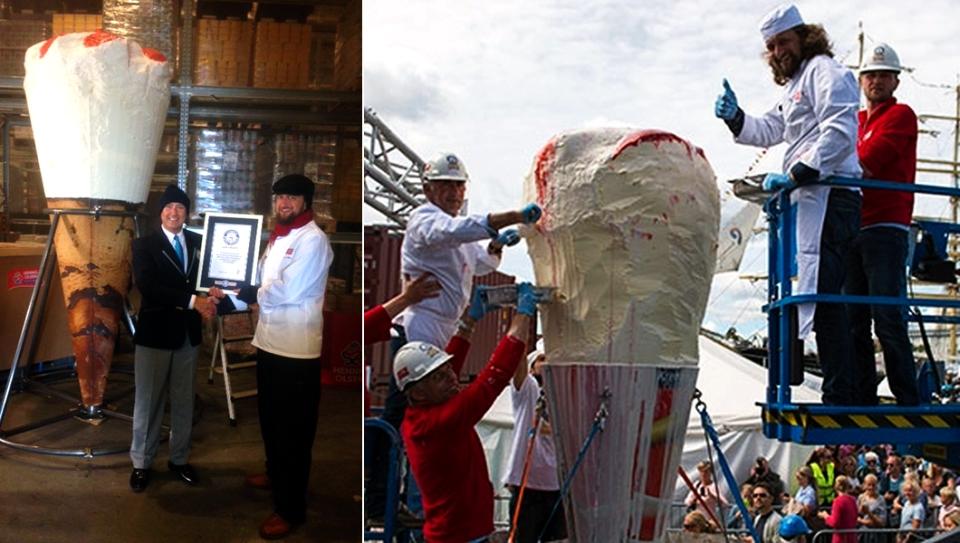 World's tallest ice-cream by Norwegian ice-cream maker