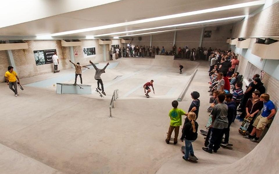 Bristol swimming pool turned into indoor skatepark