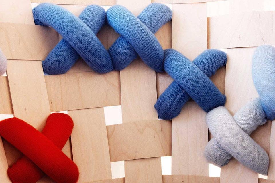 Cross-stitched Furniture by Ellinor Ericsson