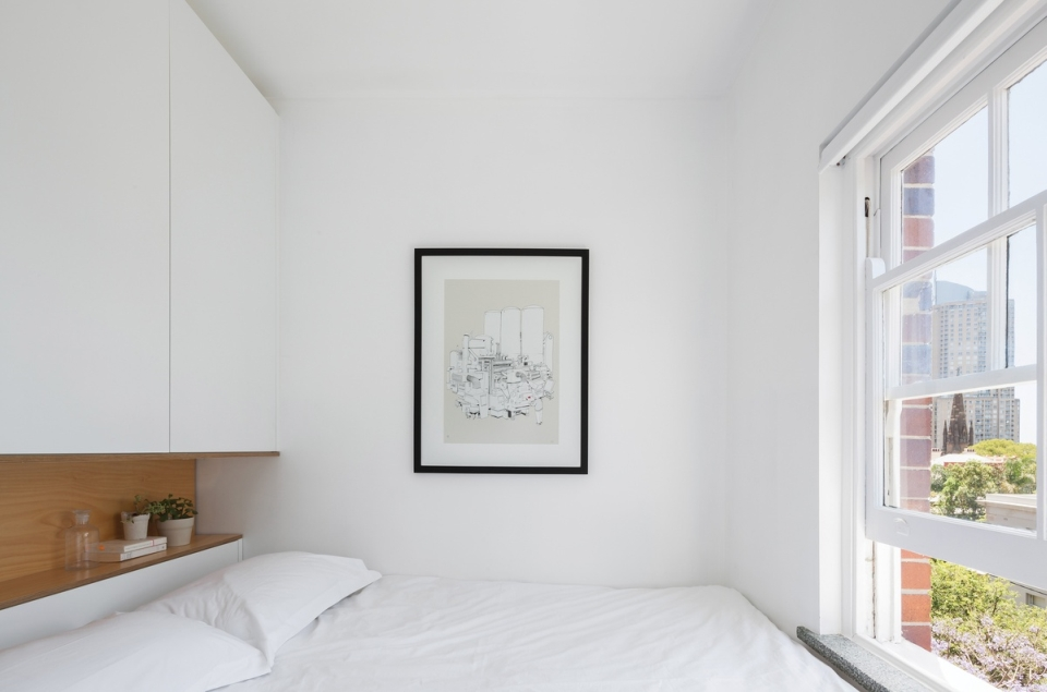 Bedroom with front window to allow ample light inside the room