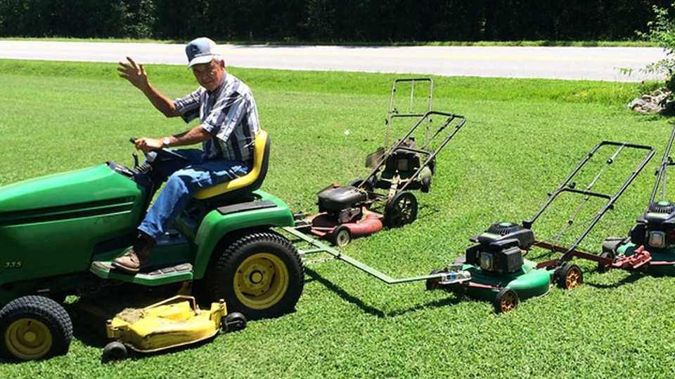 Homemade 5-in-1 lawnmower by Perry McGregor