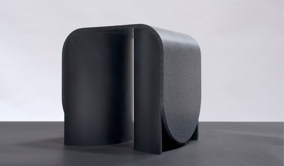 OS & OOS' Arc Furniture made out of HI-MACS
