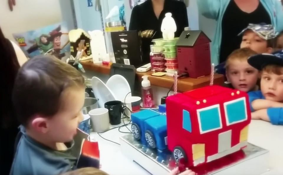 Optimus Prime birthday cake