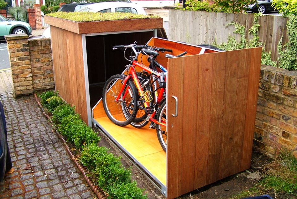 Outdoor Bike Locker and Clever Planter