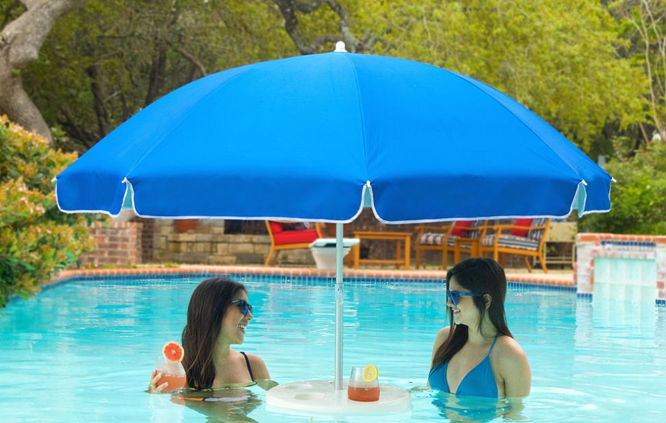 Pool Buoy World's First Floating Pool Umbrella