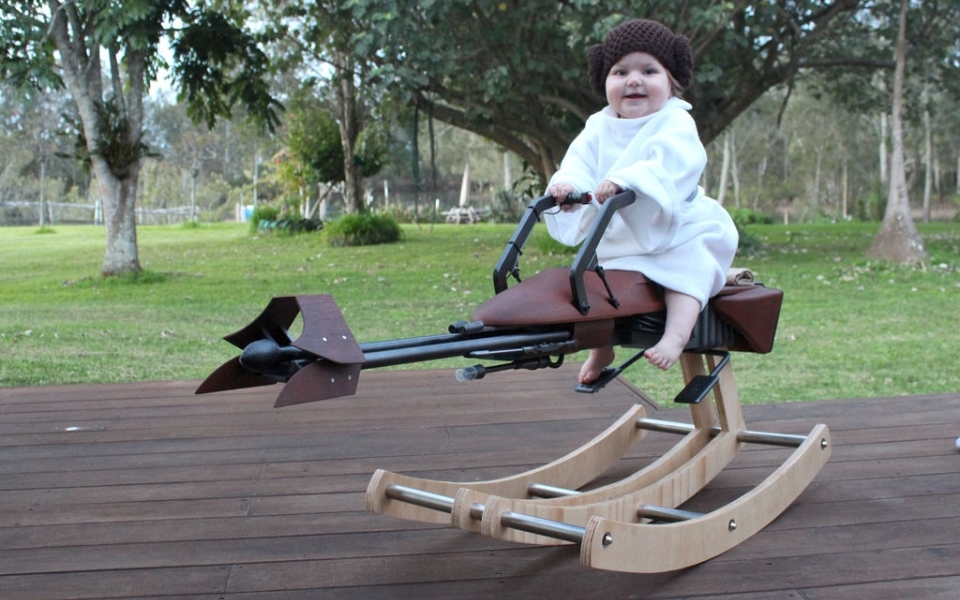 Star Wars-themed Speeder Rocking Horse
