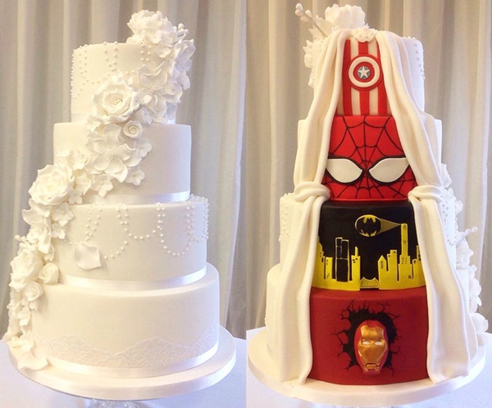 Two-sided wedding cake by Tier by Tier