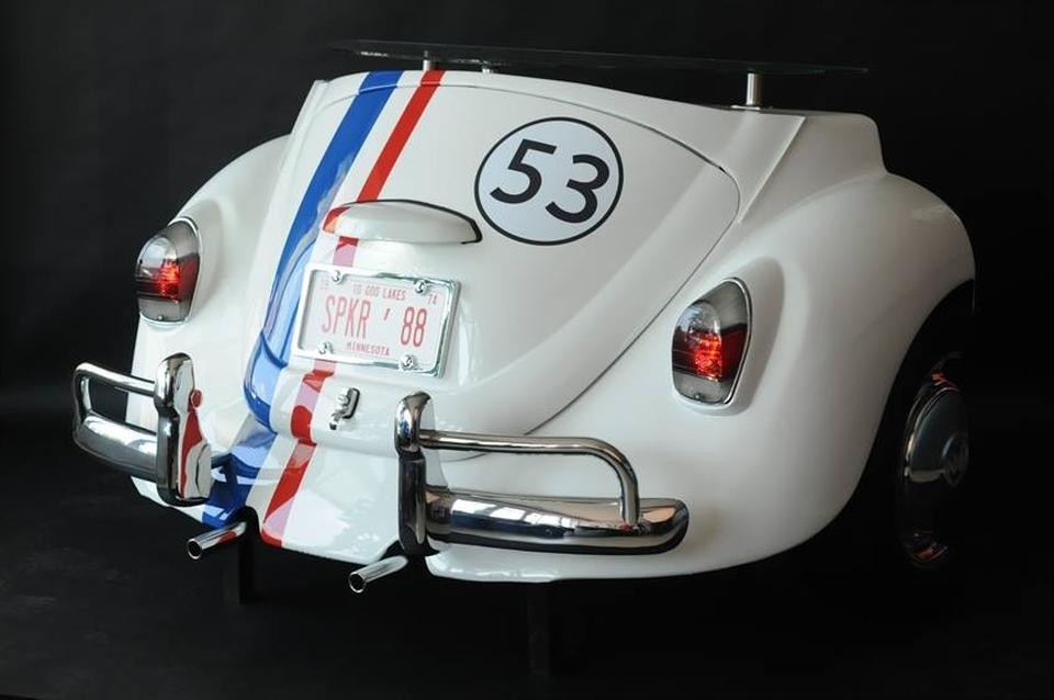 Vintage-styled VW Beetle pop up bar by Kozma Design