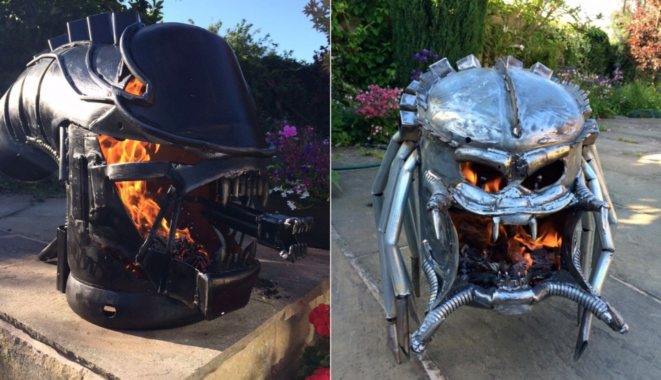 Xenomorph wood stove by Burned by Design