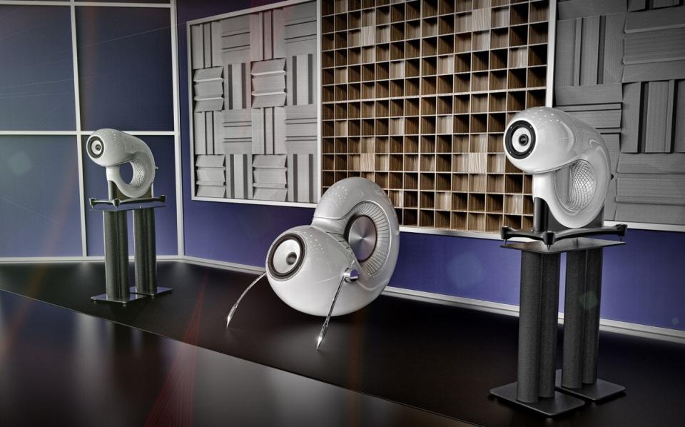 'Aleph1' 3D printed bookshelf speakers by Boaz Dekel