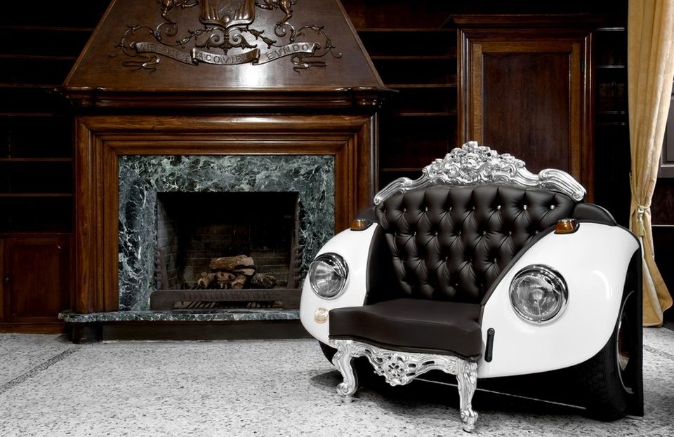 20 times auto parts were repurposed into furniture