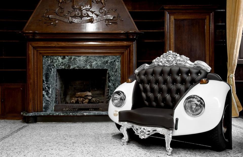 20 times auto parts were repurposed into furniture