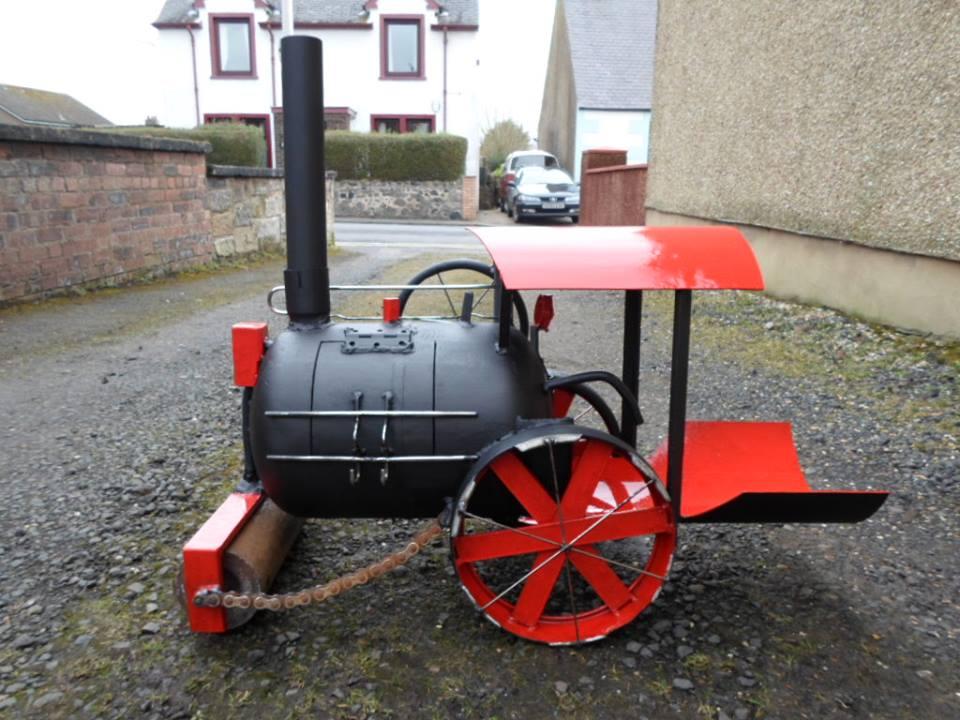 Road roller wood burner by Caddyshack Creations
