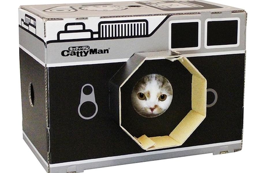 Catty Man Camera Cat Scratch Box