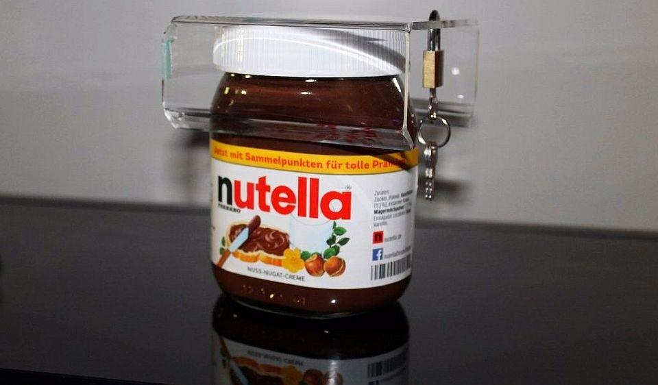 Nutella jar lock by Daniel Schobloch