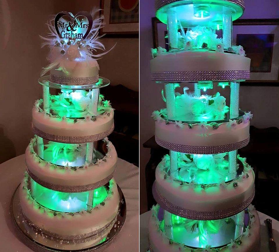 Seven-tier wedding cake by Joahua Nunnley