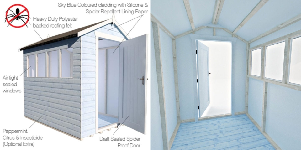 World's First Spider-proof Shed by Tiger Sheds