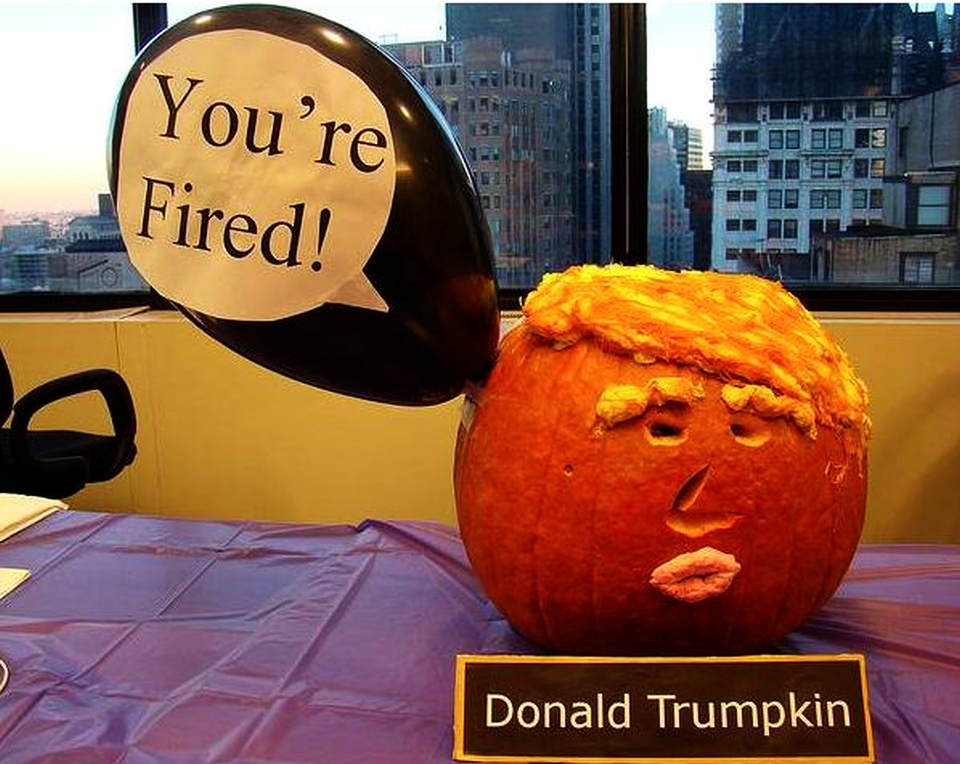 20 Donald Trumpkins scaring off trick-o-treaters this Halloween