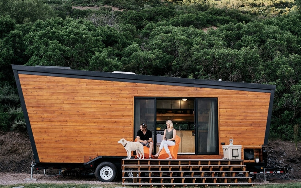 $50K tiny woody trailer is ideal home for a nomadic couple