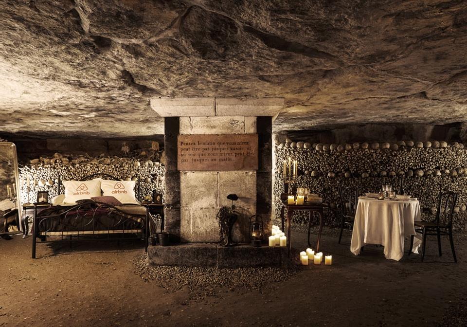 Airbnb Halloween in Paris Catacombs