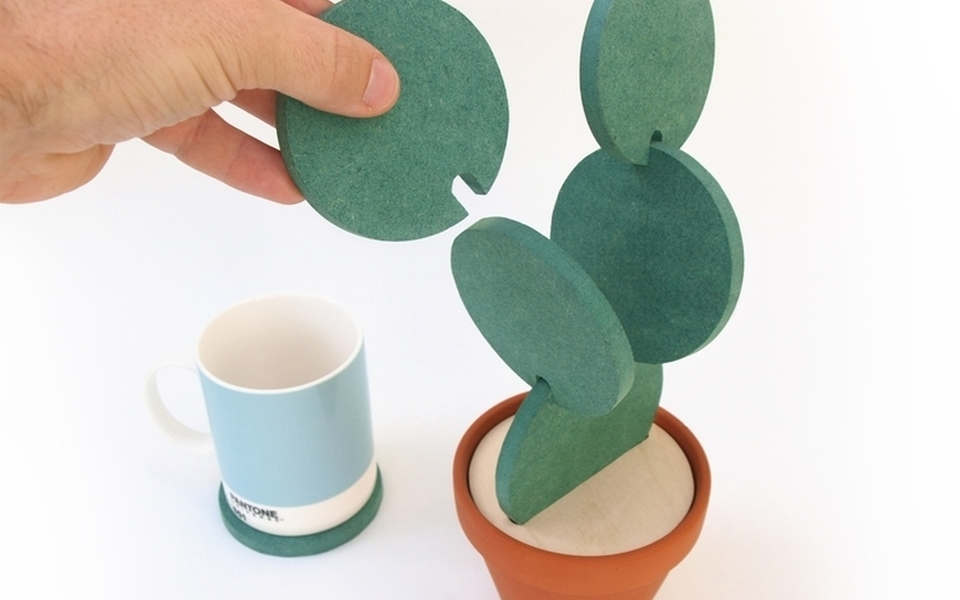 Cacti Coasters by Clive Roddy