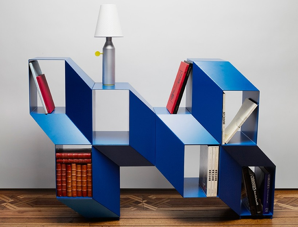 Charles Kalpakian turns optical illusion into Rocky shelving