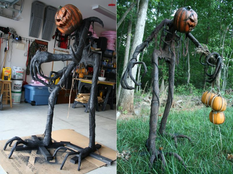 DIY scarecrow halloween decoration