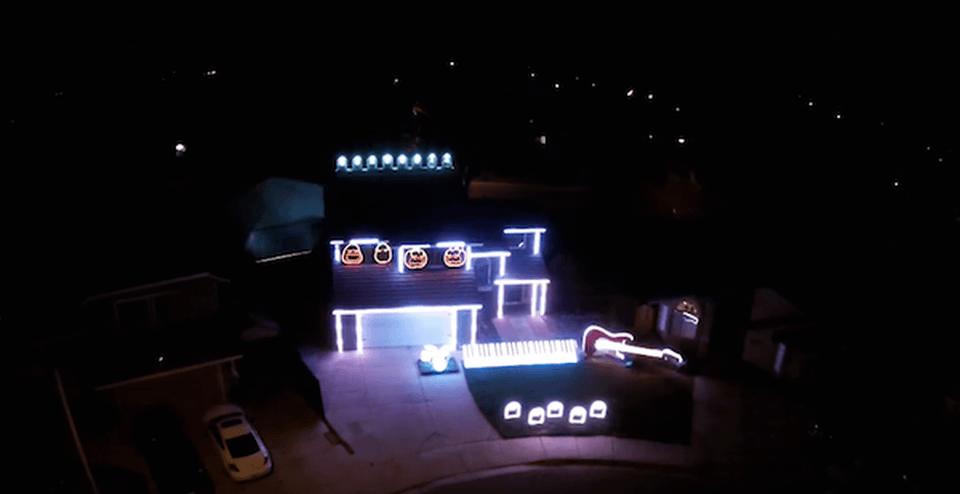 Disney villain-themed light show