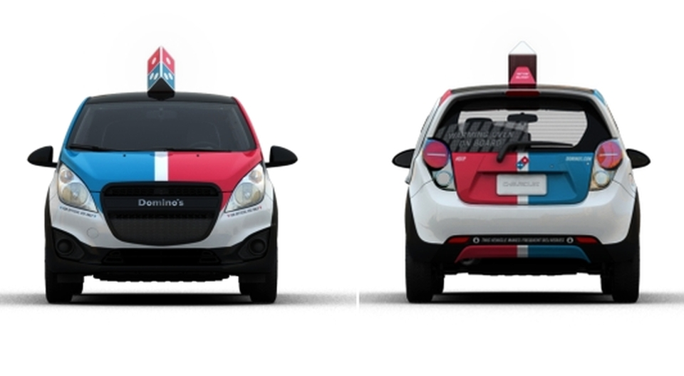 Domino's DXP car with built-in oven
