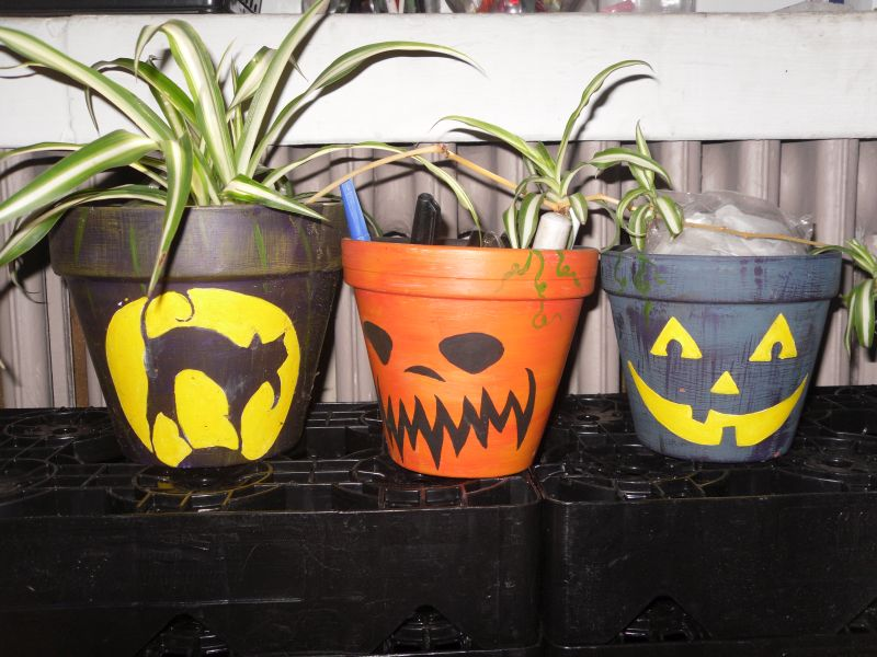 Flower Pot Halloween Decorations