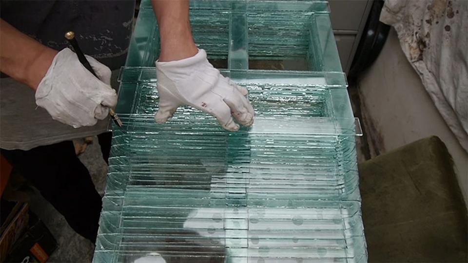 Glass Piano by Karlis Bogustovs