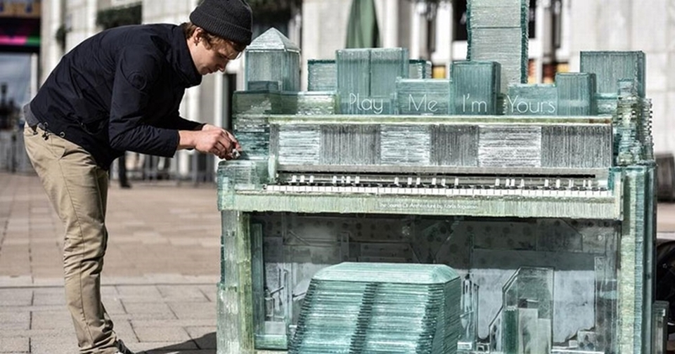 Glass Piano by Karlis Bogustovs