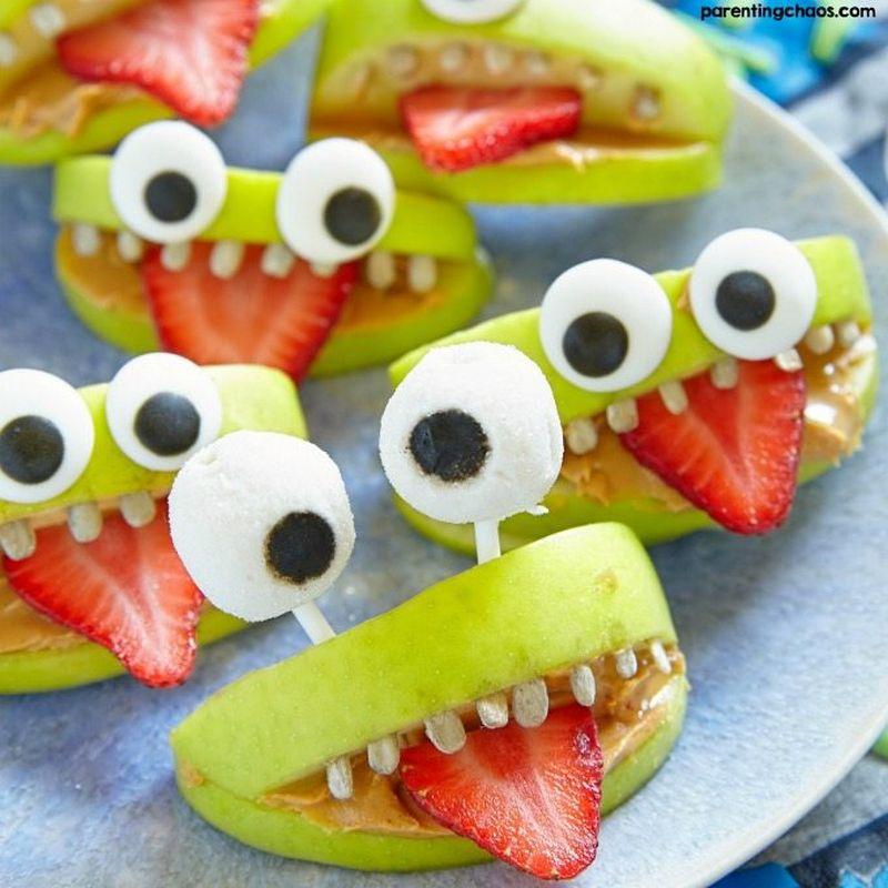Halloween Monster Apples