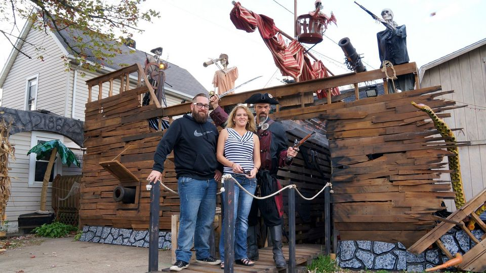 Massillon man's pirate ship Halloween display