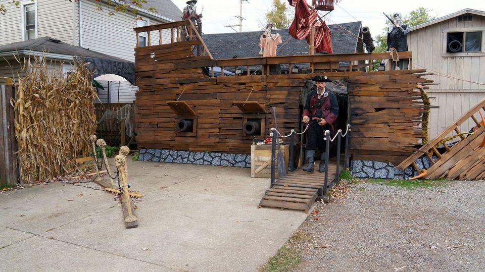 Massillon man's pirate ship Halloween display