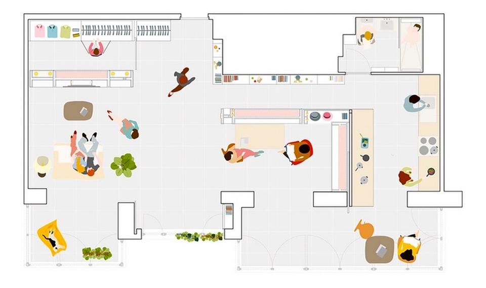 Potential floor plan of Casa Mje