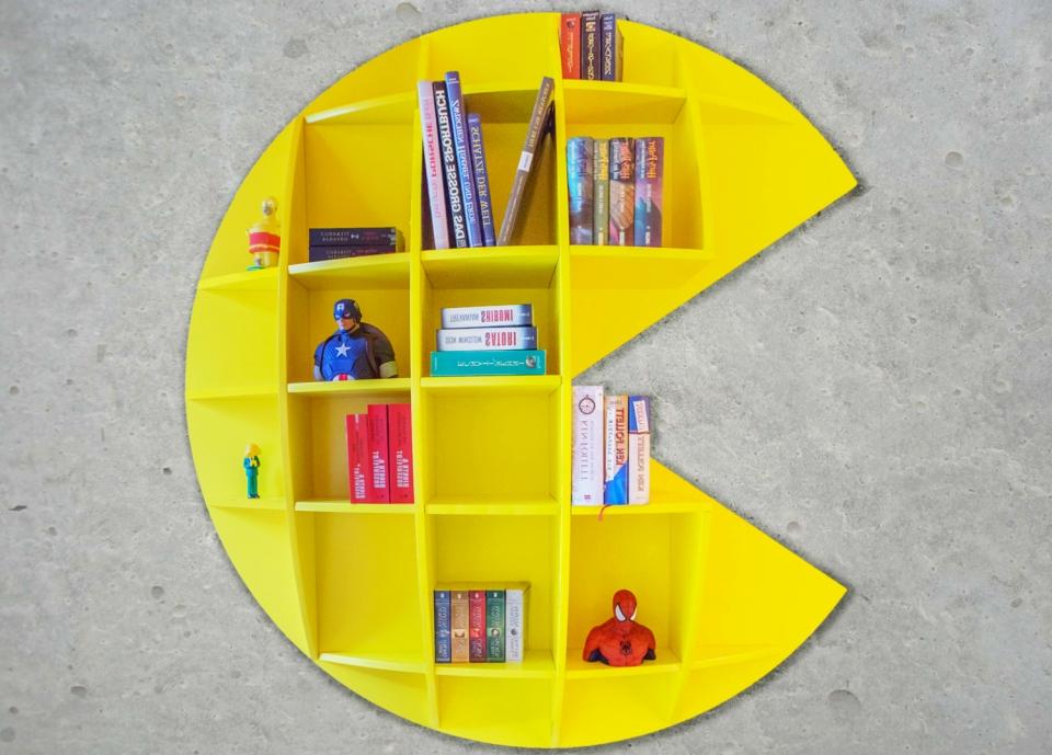 Pac-Man Bookshelf