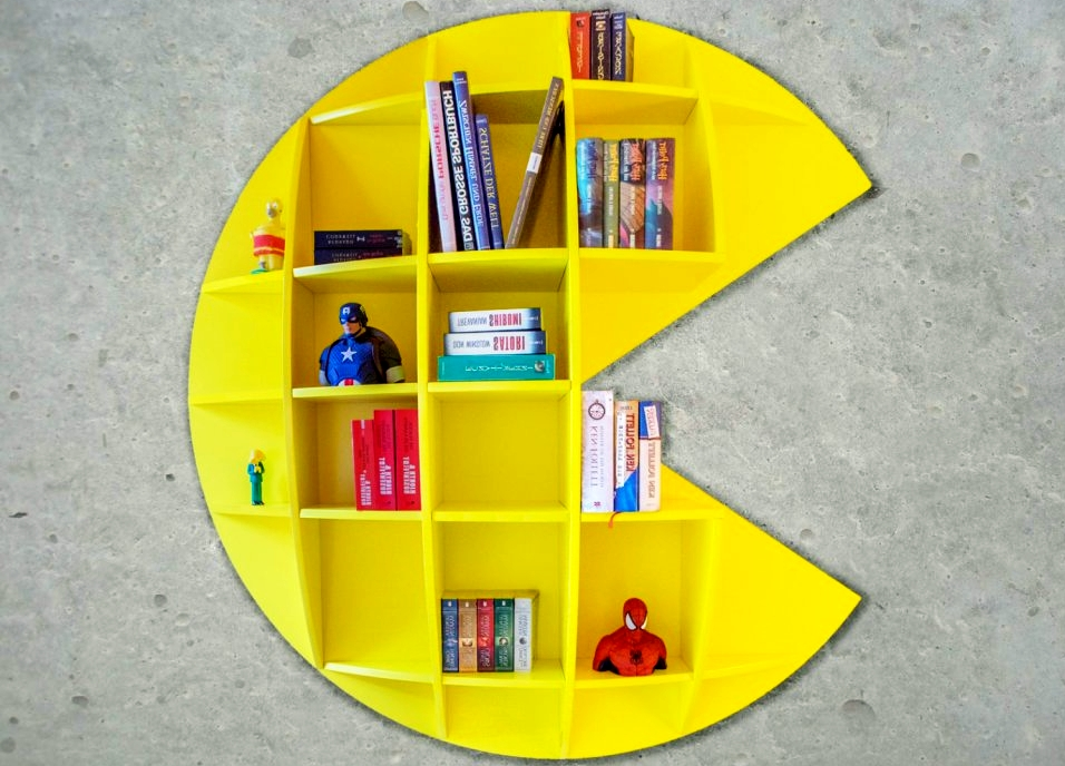 Pac-Man Bookshelf