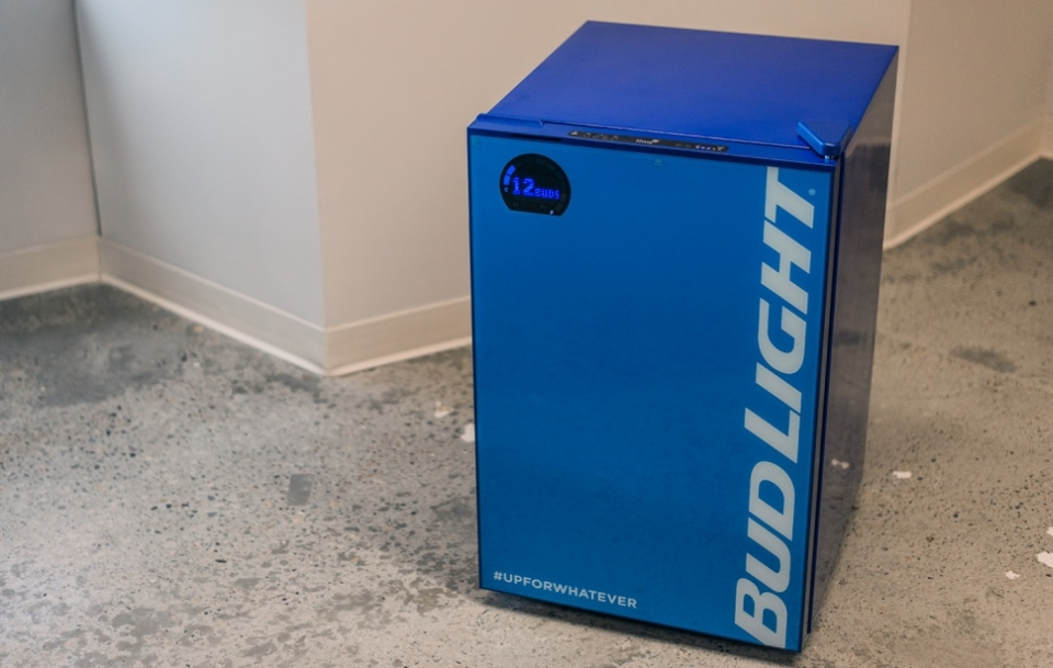 Smart Bud-E Fridge by Bud Light