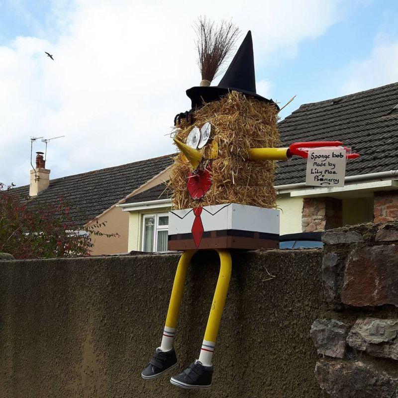 SpongeBob scarecrow